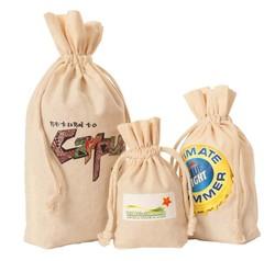 Weedy 100% Gusseted Natural Cotton Drawstring Bag 5.5x1.5x10h