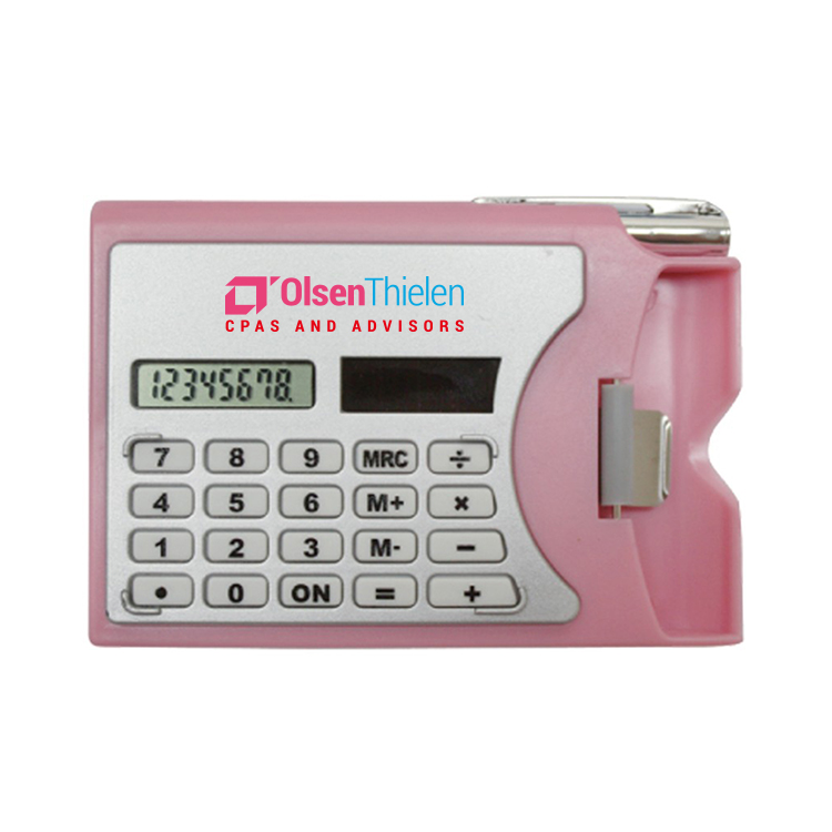 Calculator W/Card Holder-Close out item