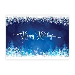 Snowy Glow Economy Holiday Card