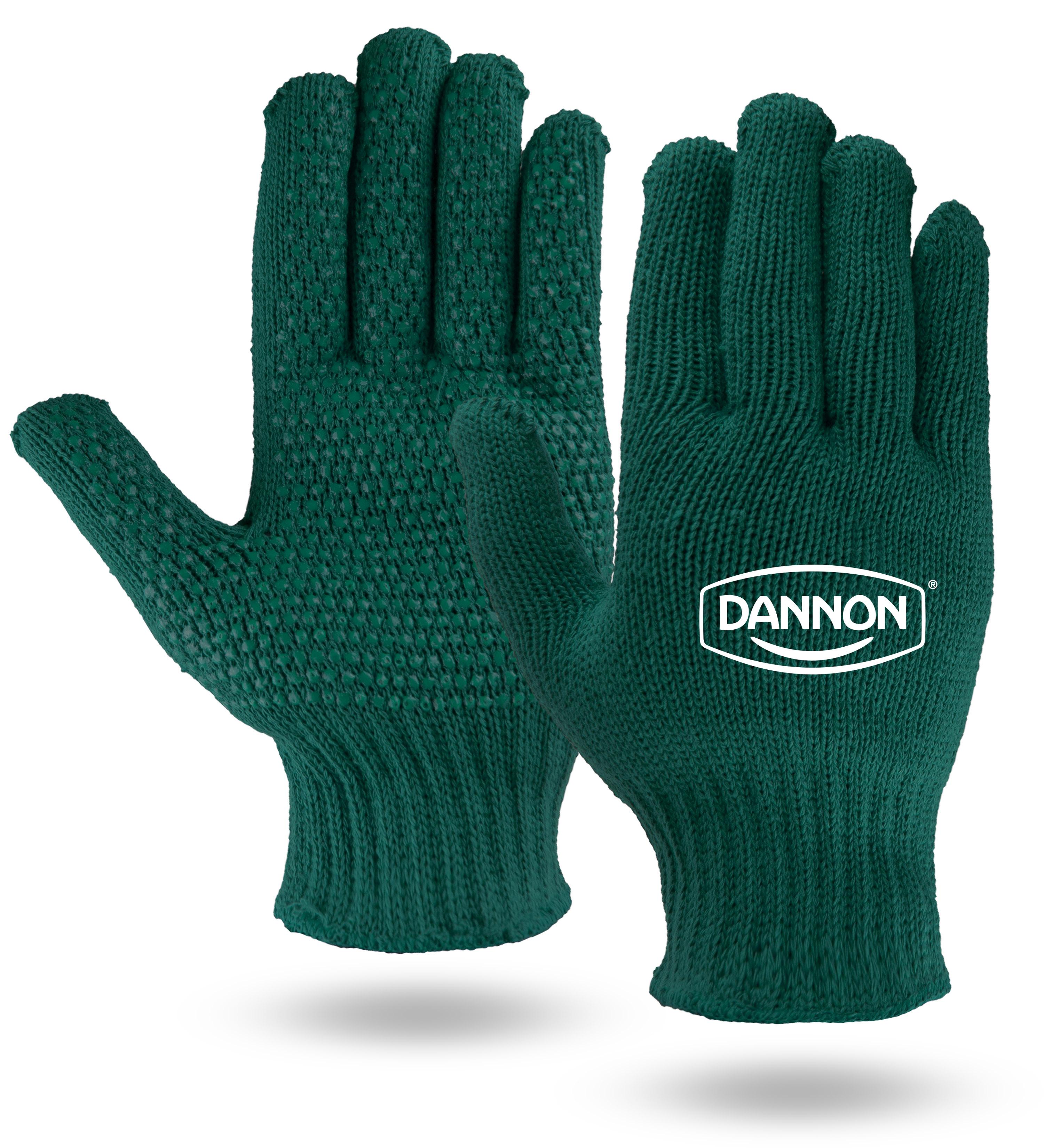 Green Knit Freezer Gloves