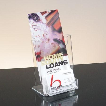 Single Pocket Brochure Holder For 4w X 6h X 1 3 4d White