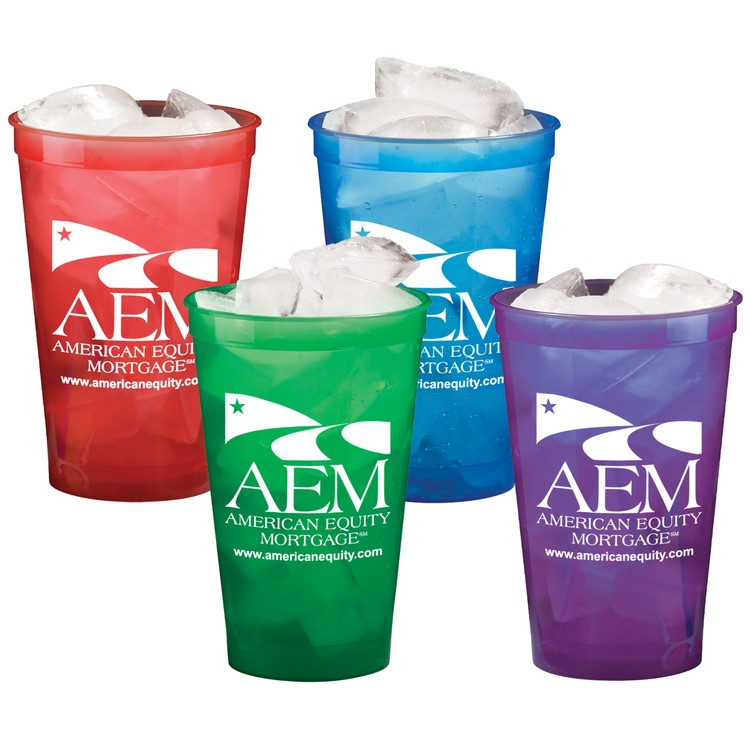 22 oz. Smooth Stadium Cup, Translucent Colors - ON SPECIAL - THIS PRODUCT IS CURRENTLY ON SPECIAL