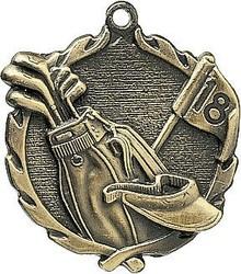 Sculptured Golf Medal 1.75
