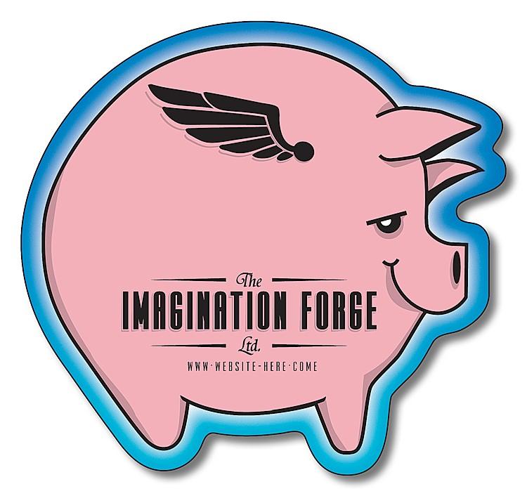 Magnet - Pig Shape (2.9375x2.75) - Outdoor Safe