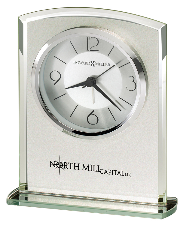 Howard Miller Glamour frosted glass clock
