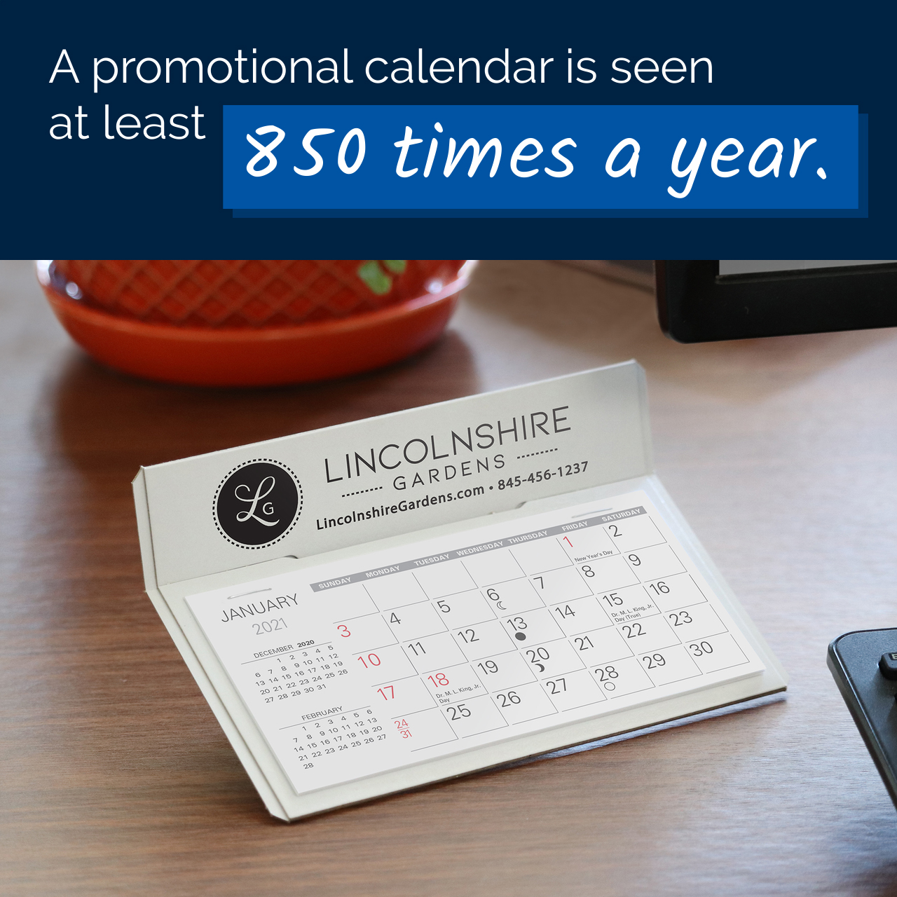 Promotional Calendars Impressions pre Year