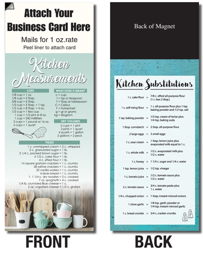 AdCard – Kitchen Measurements/Cupboard