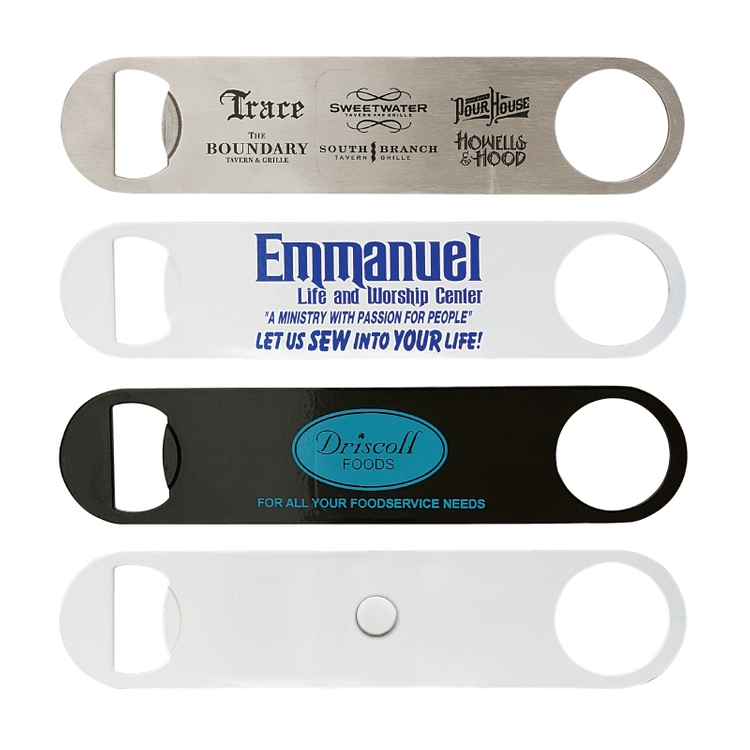 Paddle Style Bottle Opener w/ Magnet