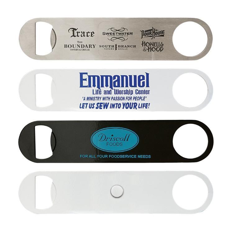 Paddle Style Bottle Opener w/ Magnet