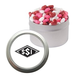 Candy Window Tin with Candy Hearts