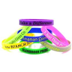 Printed Silicone Wristband - RUSH