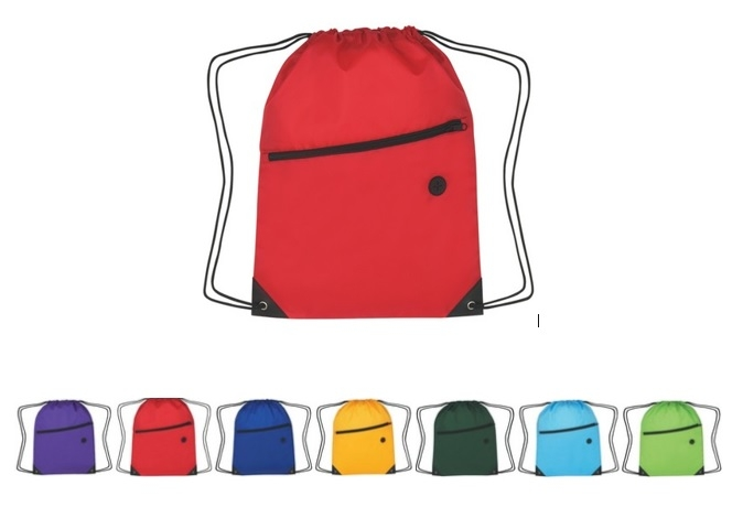 210D Sport Backpack Bag With Zipper With Earbuds Slot, FREE SHIPPING!