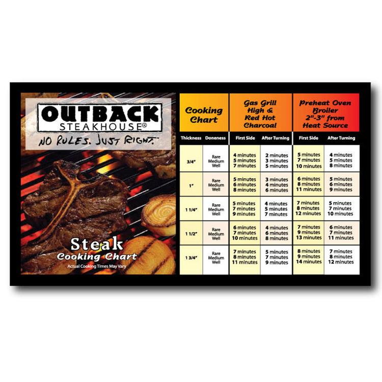 Steak Cooking Chart Magnet