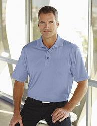 Tri-Mountain Gold men's 100% poly jaquard knit golf shirt. Features UltraCool™. - GLENDALE