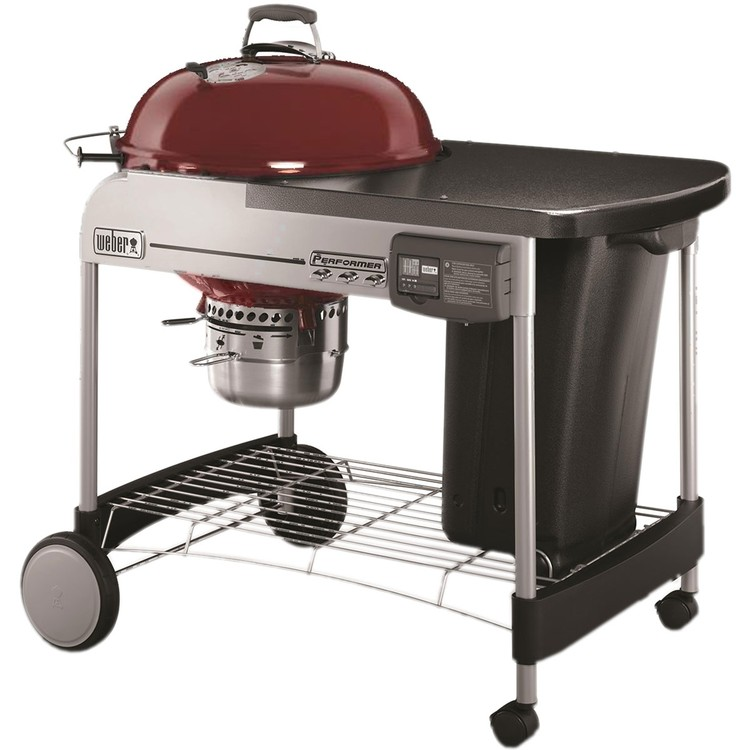 Weber Performer Deluxe 22 Charcoal Grill - Crimson