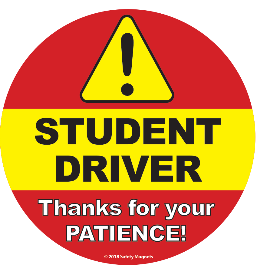 picture relating to Student Driver Sign Printable called Pupil Driver Signal - Inside of Car or truck Window Static Hang Decal - 6 x 6 within just.