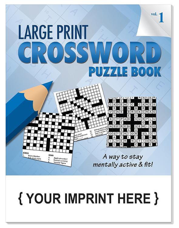 PUZZLE BOOK - LARGE PRINT Crossword Puzzle Book - Volume 1