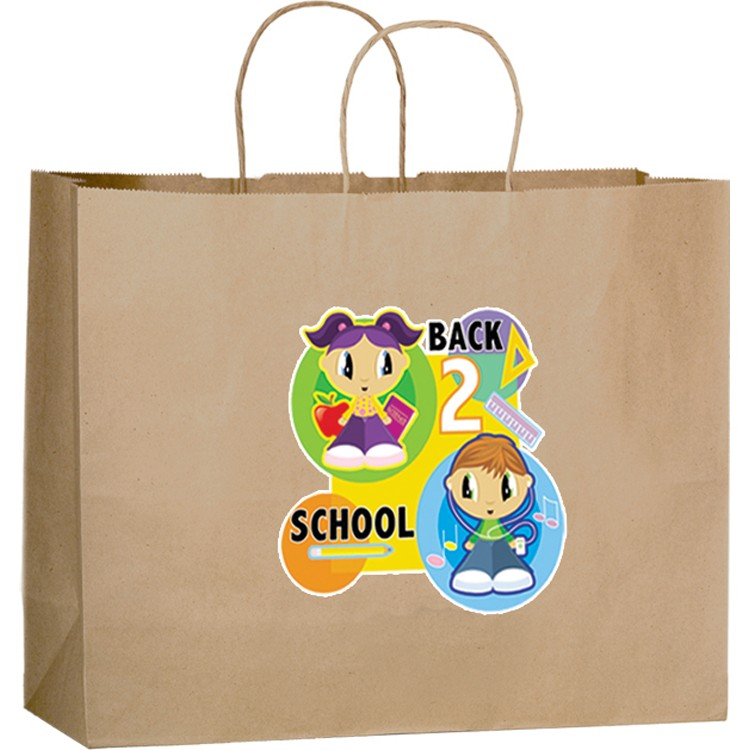 Natural Kraft Paper Shopper with Twisted Paper Handles