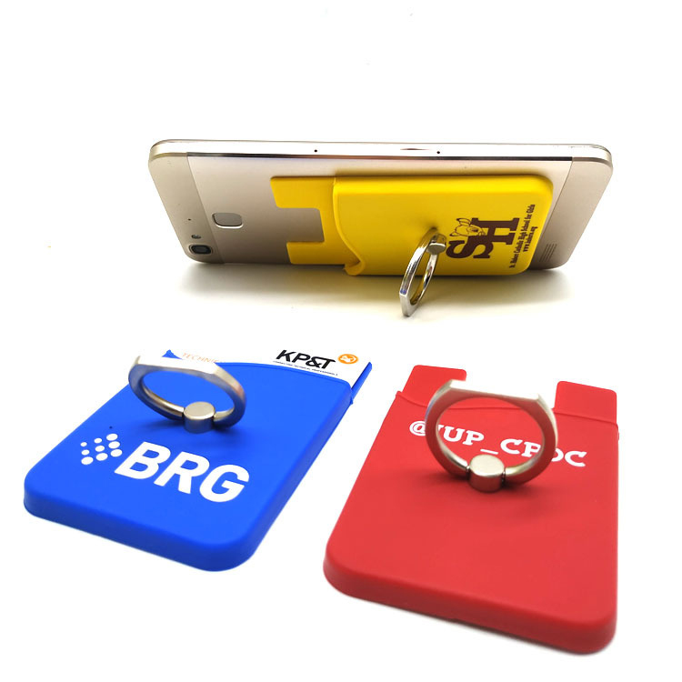buy popular c06d4 2848c Silicone Phone Wallet with Ring Grip