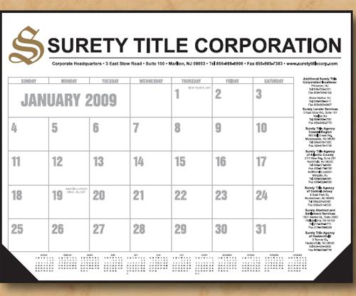 The Economy Standard Line Desk Calendar