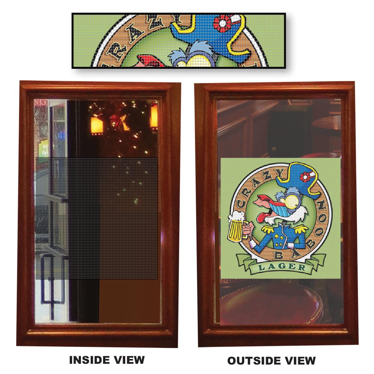 Custom Printed One Way Window Clings 18258vpc25 Custom
