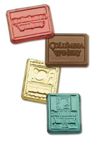 Custom Chocolate Foiled Rectangle