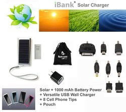 iBank(R) Solar Charger for iPhone 4/5, iPod, Galaxy, Blackberry and Android phones