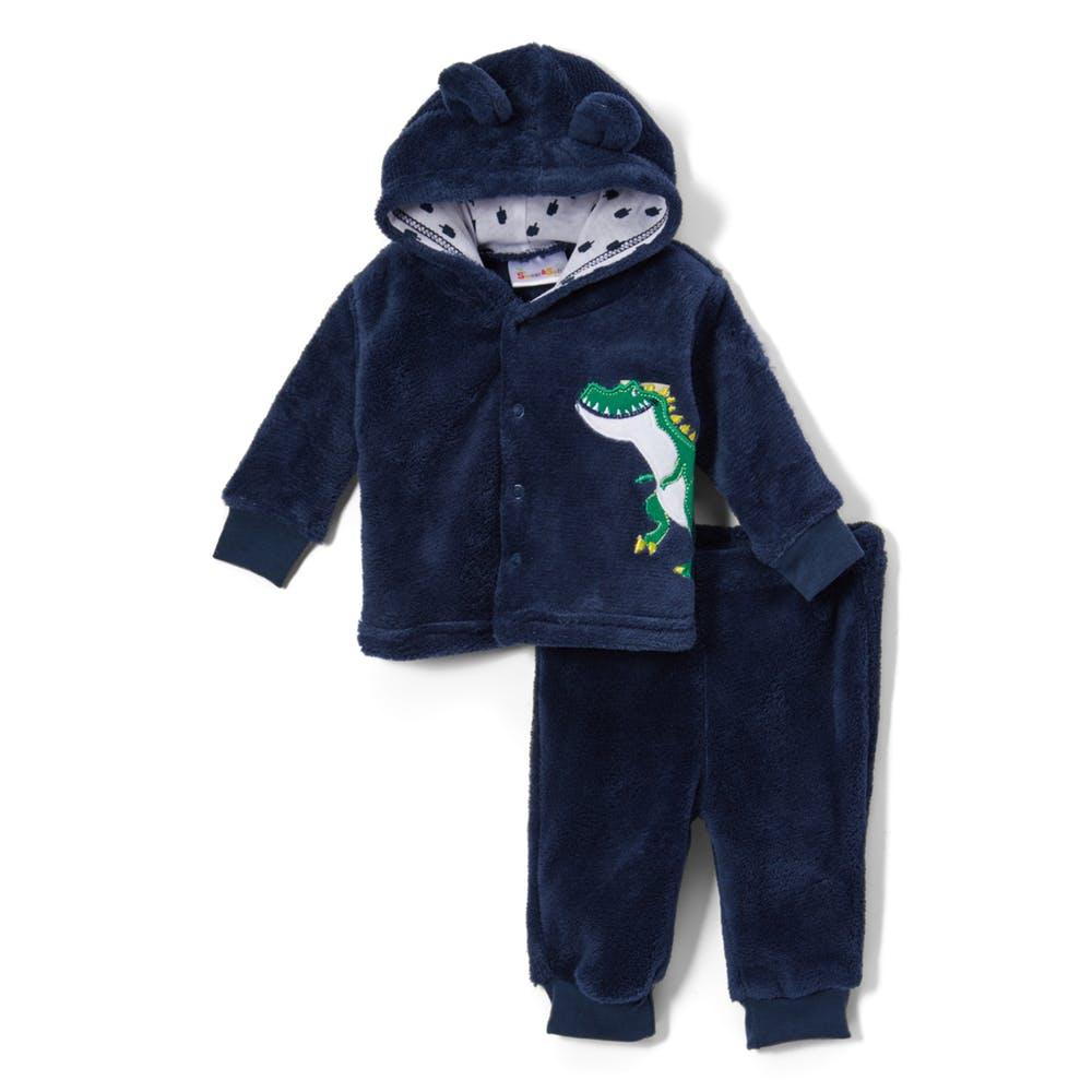 6ebe01375 Baby Boys Cuddle Fleece Pants   Jacket Set - Dino - 2324805 ...
