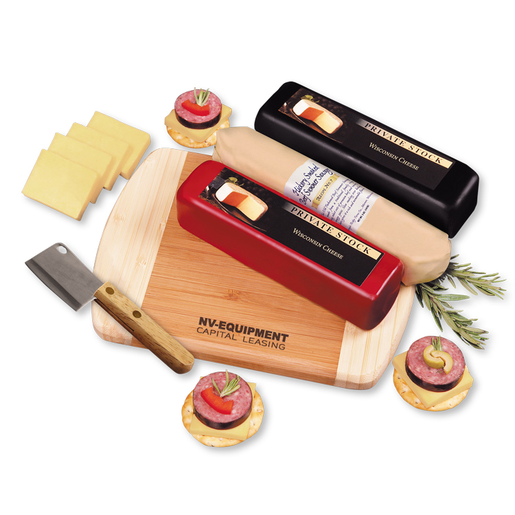 Shelf-Stable Wisconsin Flavors Cheese Gift Set - Gourmet Food Gift