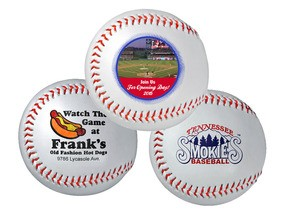 Synthetic Leather Baseball with Cork Core-Full Color Direct