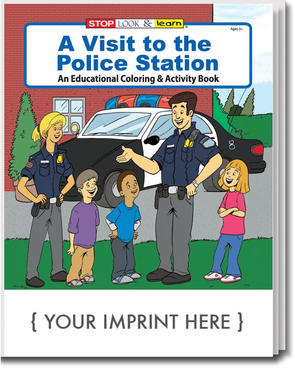 COLORING BOOK - A Visit to the Police Station Coloring & Activity Book