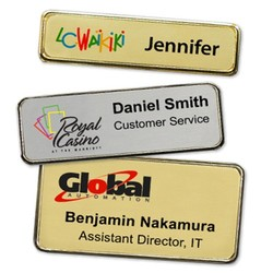 Executive Metal Name Tags with Framed Edge (3x1.25)