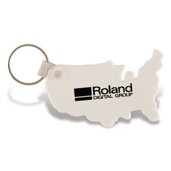 USA Shape Keychain