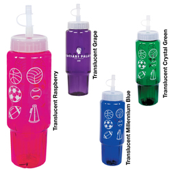 30 oz. Translucent Sport Bottle