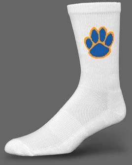 Deluxe CREW Socks w MOISTURE WICKING-White