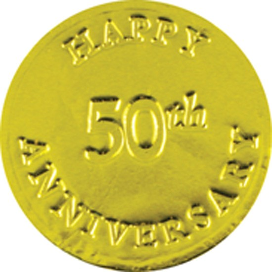 Happy 50th Anniversary Chocolate Coin