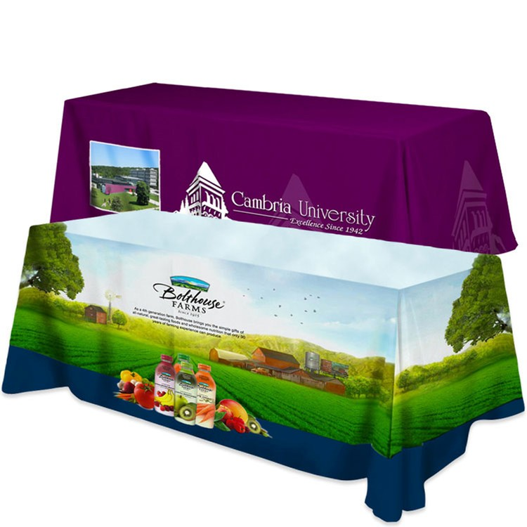 All Over Dye Sub Table Cover - flat poly 4-sided, fits 8' table - Beacon Brand Builders