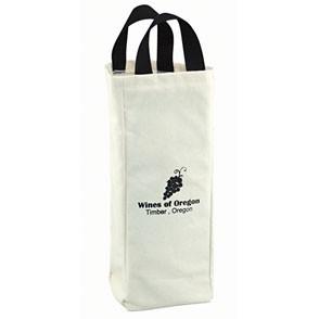 10 Oz. Natural Canvas Wine Tote Bag