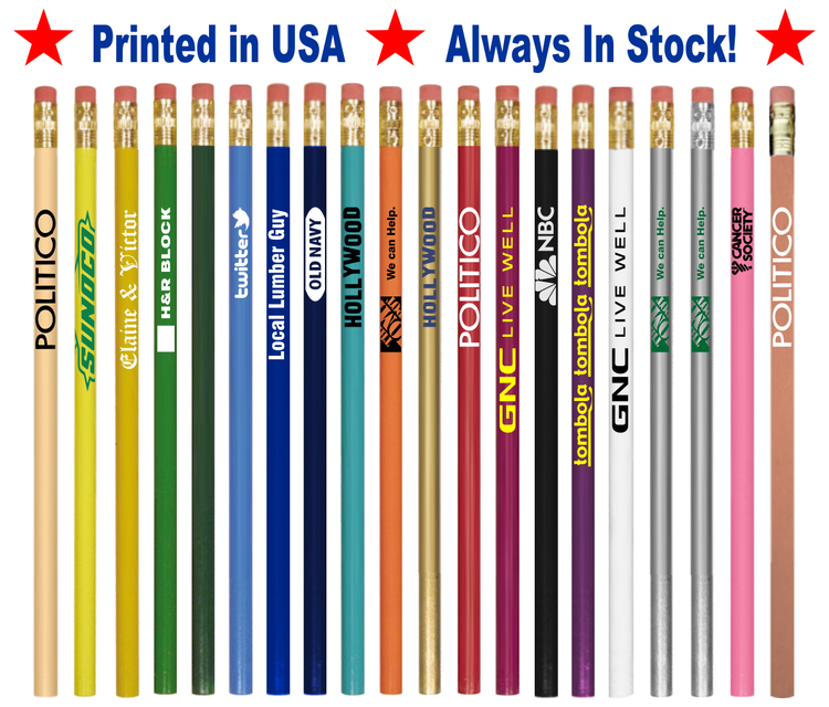 Promotional Printed Pencils with Your Logo & Message - Imported Round Pencil