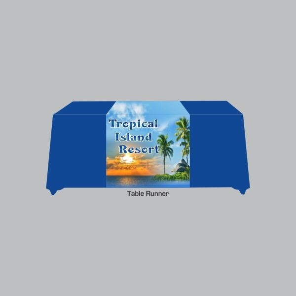 Tablecloth Runner with Full Color Sublimation