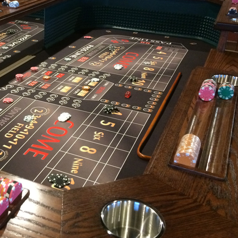 Craps Table Lost Mill Woodworking