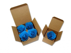 4 Seeded Paper Roses in Gift Box