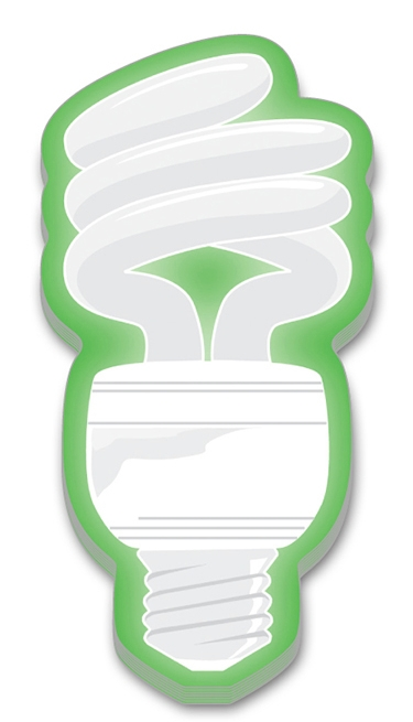 Adhesive Note Shape - Fluorescent Light Bulb (2.4x4.8) - 100 Sheets