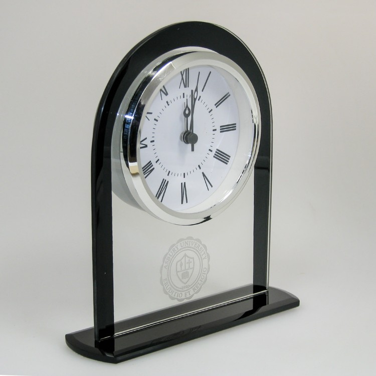 Glass Upright Round Top Clock