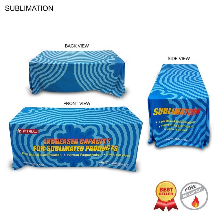 Sublimated or Blank Table Throw for 6' table (Closed Back)