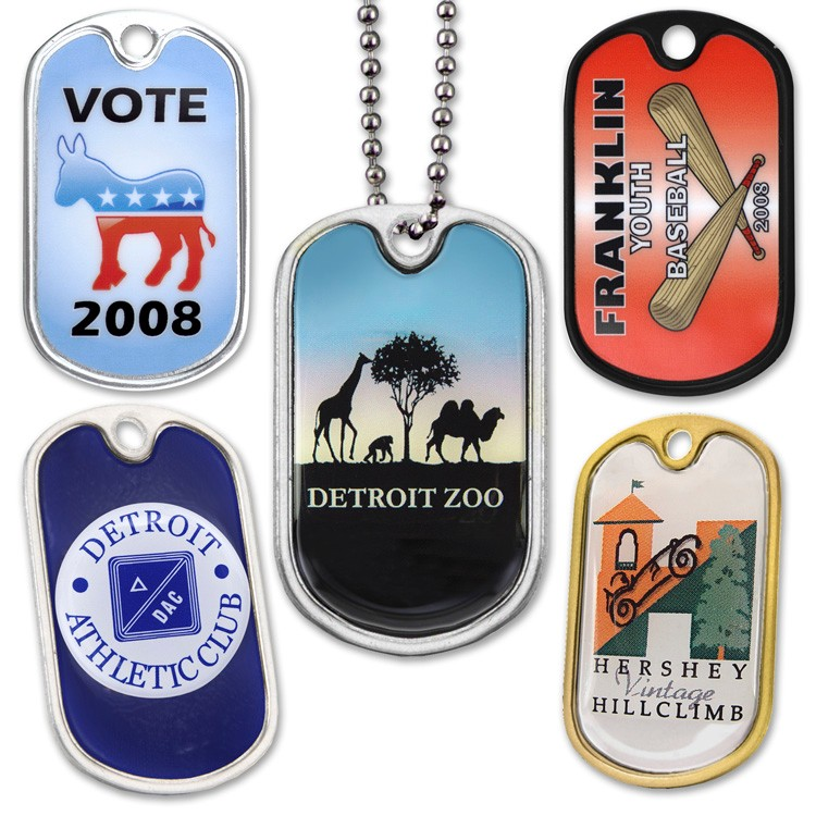 Speed Dog Tags - Natural Aluminum FInish