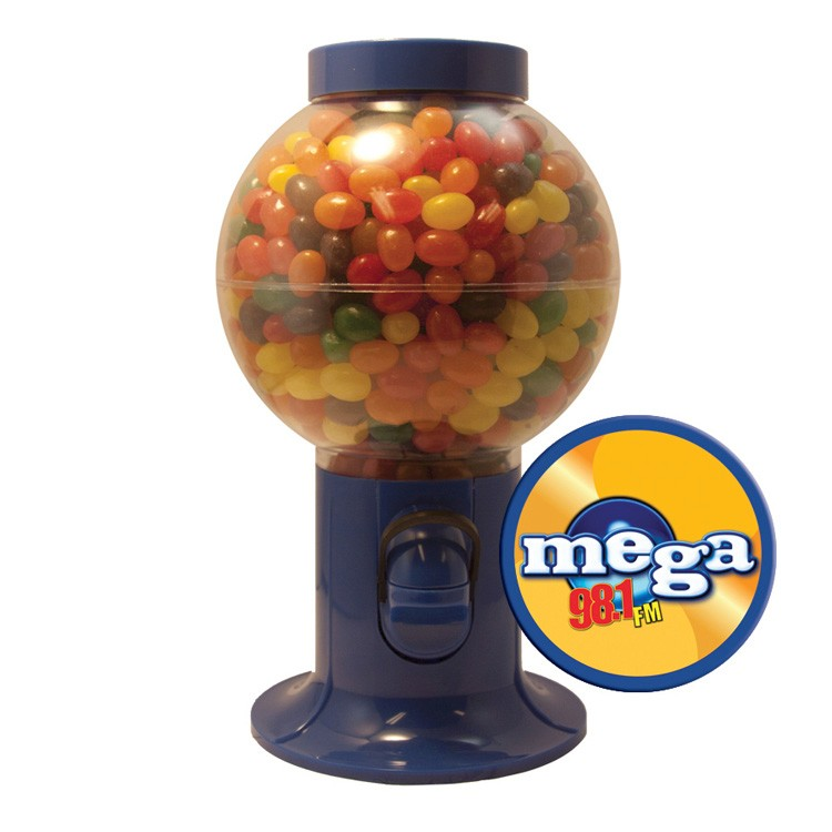 Blue Gumball Machine with Jelly Beans