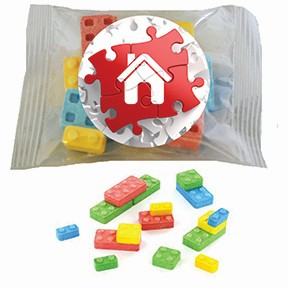 Custom Candy Building Blocks Hand Out Packet
