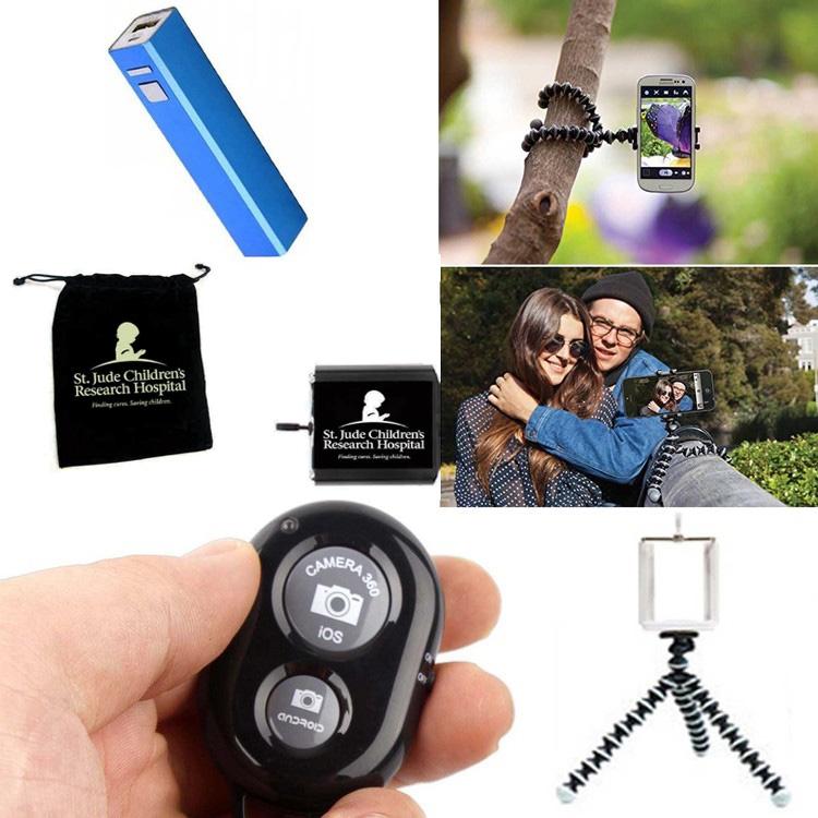 iBank® 2,600 mAh Power Bank + Tripod + Bluetooth Remote Shutter