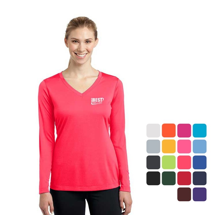 Ladies' Long Sleeve PosiCharge® Competitor-Tee